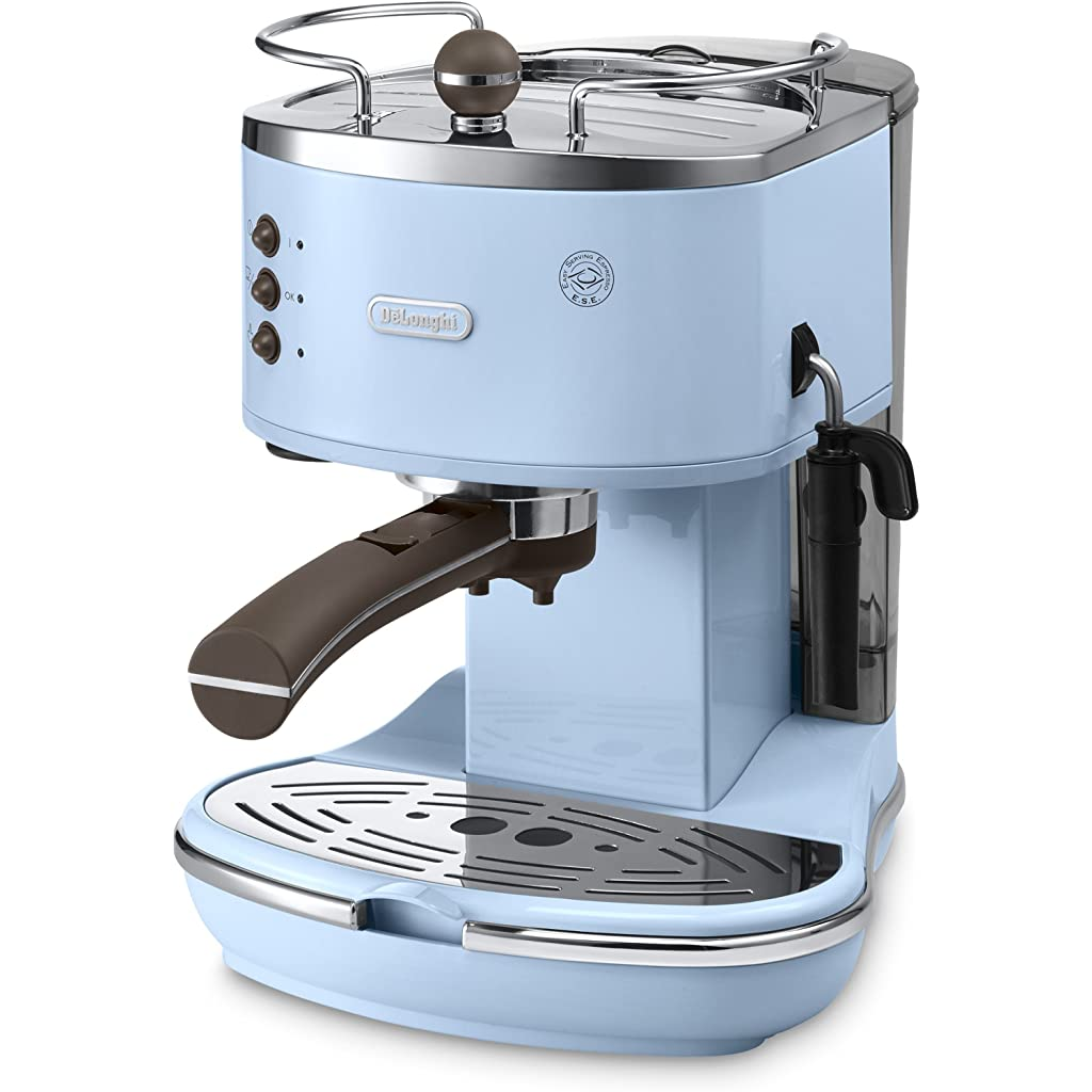 De'Longhi Vintage Icona ECOV310.AZ Duck Egg Blue Pump Espresso and Cappuccino Machine