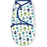 SwaddleMe 1 Piece Original Swaddle, Blue Monster, Small