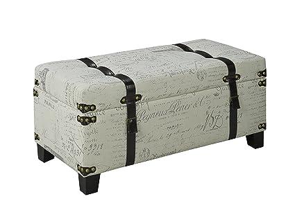 Excellent Amazon Com Cb Printed Storage Bench Kitchen Dining Ibusinesslaw Wood Chair Design Ideas Ibusinesslaworg