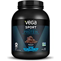Vega Sport Premium Protein Powder, Mocha, Plant Based Protein Powder for Post Workout - Certified Vegan, Vegetarian, Keto-Friendly, Gluten Free, Dairy Free, BCAA Amino Acid (45 Servings / 4lbs 3.9oz)