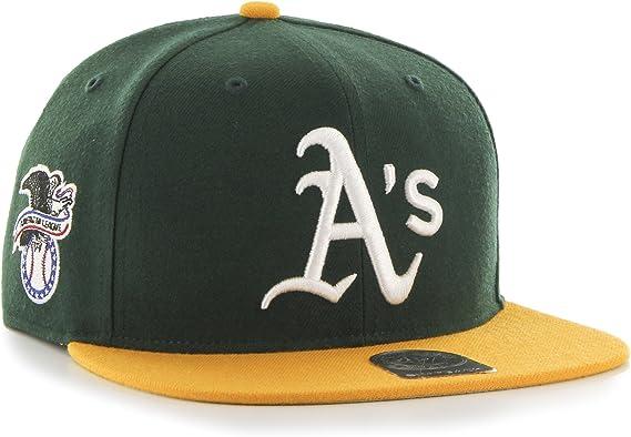 Dark Green 47 MLB Oakland Athletics Sure Shot Two Tone Captain Adjustable Snapback Hat One Size