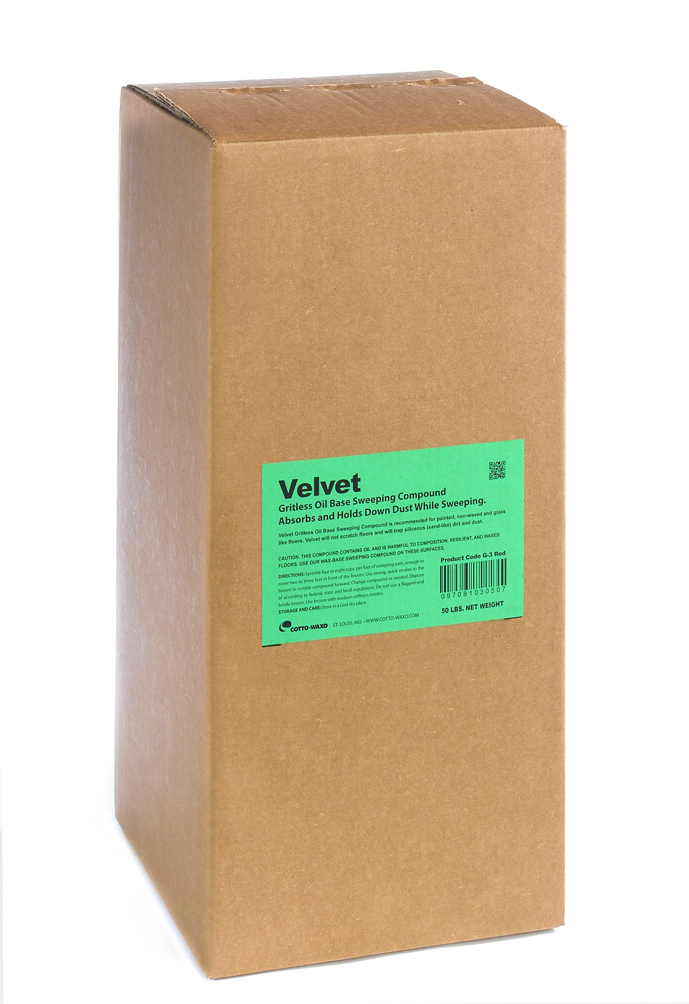 Cotto-Waxo G-3 Velvet Gritless Oil Base Sweeping Compound, 50 lbs Box