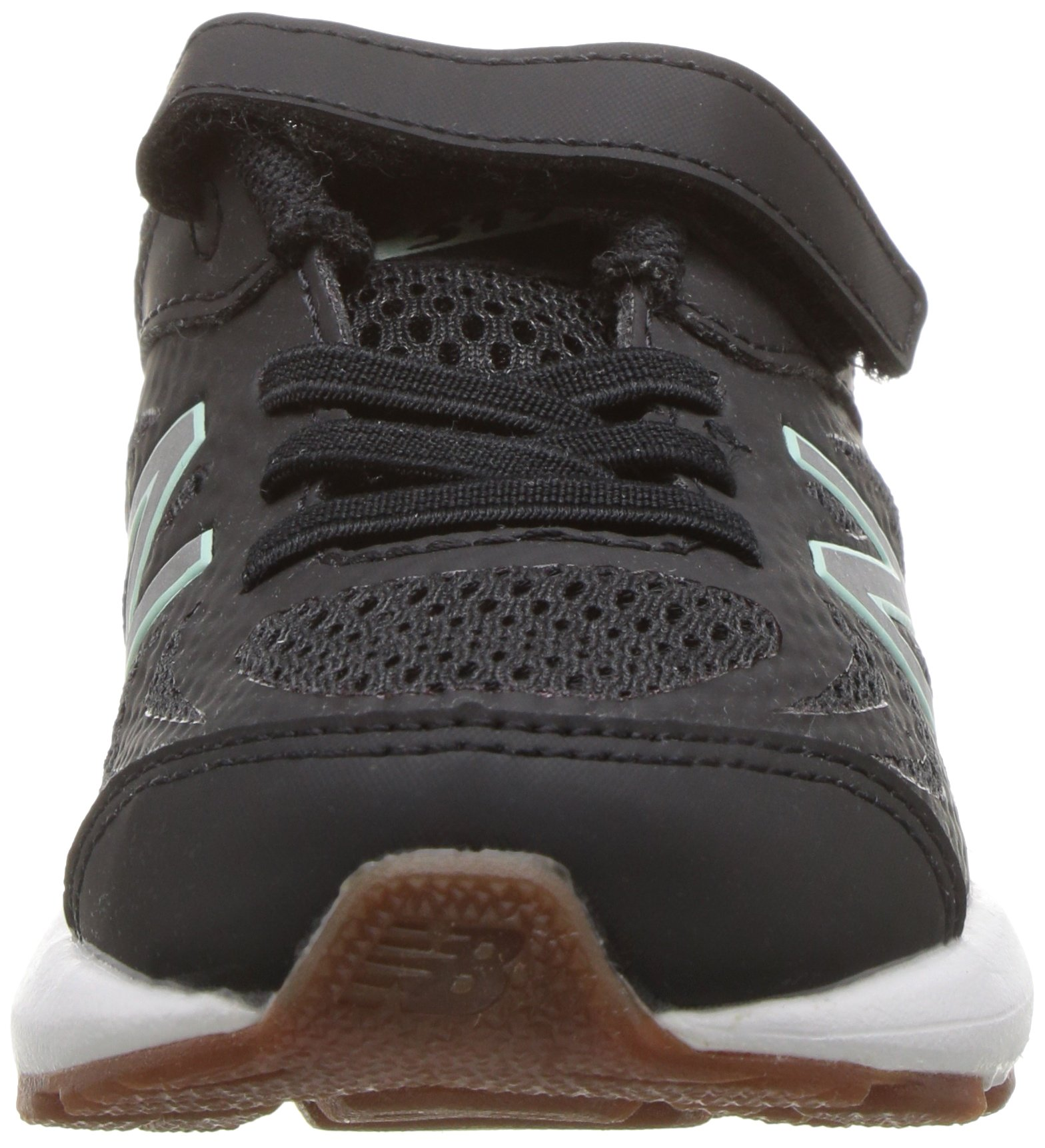 New Balance Girls' 519v1 Hook and Loop Running Shoe Black/Seafoam 2 M US Infant by New Balance (Image #4)