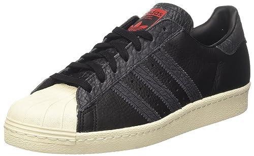 new style c3a16 59444 adidas Superstar 80s, Zapatillas de Deporte para Hombre, Varios colores (Core  Black   Core Black   Solar Red), 41 1 3 EU  Amazon.es  Zapatos y  complementos