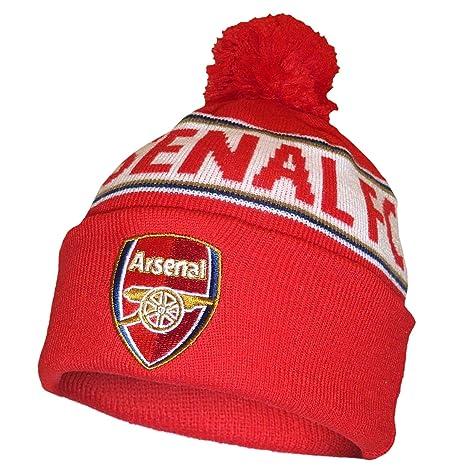 a9de2da9117 Amazon.com   Arsenal FC Text Cuff Beanie Hat   Sports   Outdoors