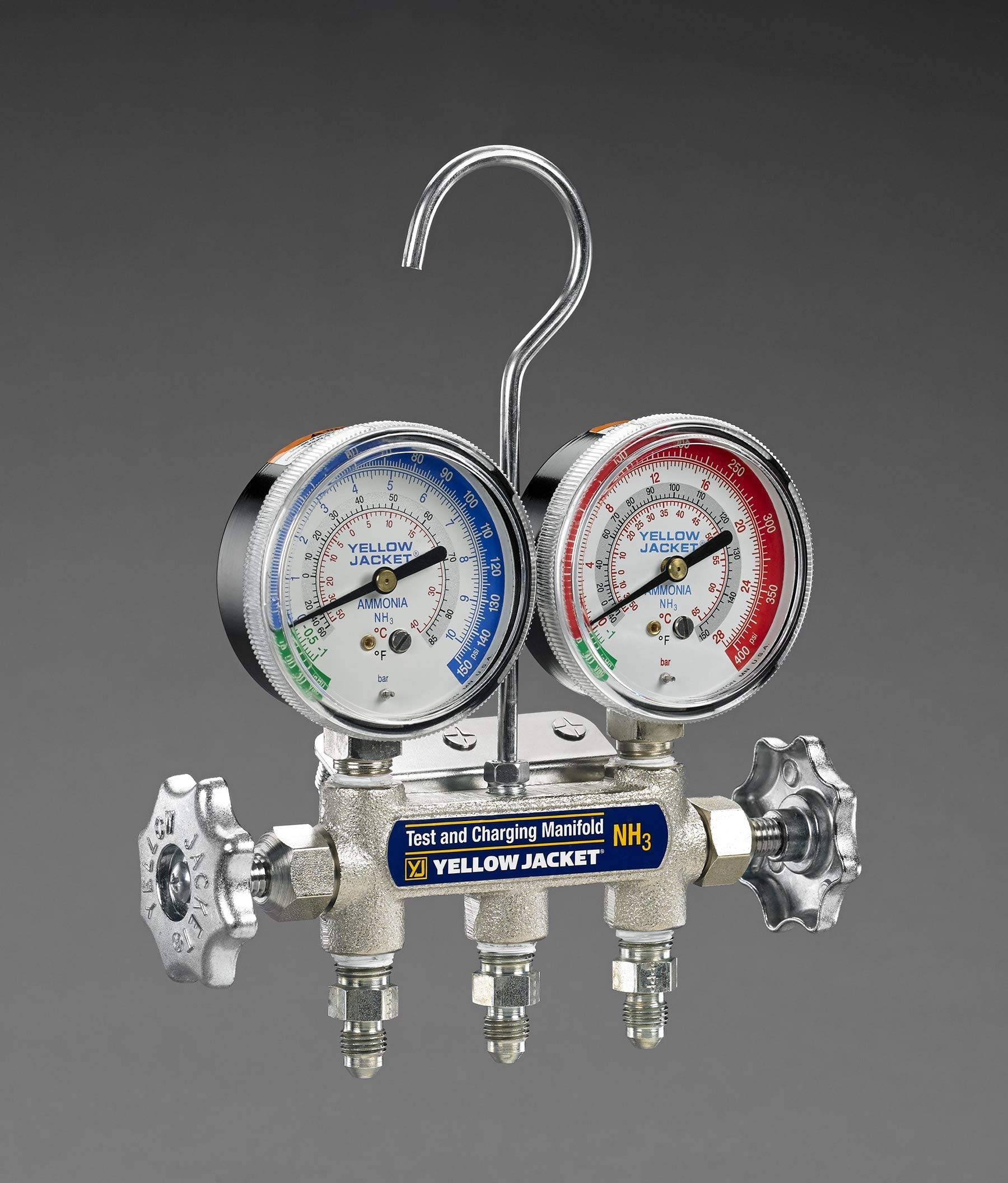 Yellow Jacket 40193 Manifold and Gauges with 3 NHA 48'' Hoses