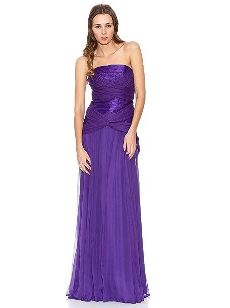 MANGO Vestido Venus-A Violeta S