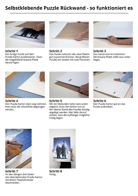 Rückwände Puzzle Karton Zum Aufkleben Von Puzzles Selbstklebend Mit Aufhänger Stärke 25mm Puzzle Fix Board Aufhängen Größe 50x70cm