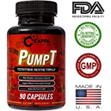 Testosterone Booster – Male Testosterone Booster, Testosterone Booster for Men, Supplements for Men, Male Supplements, Pills, Capsules - By Zappa Nutrition PumpT