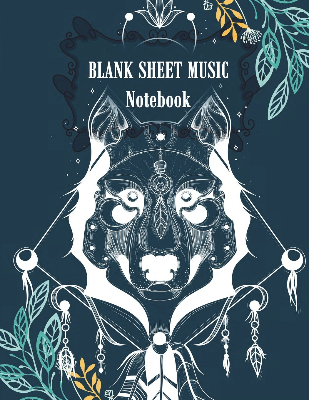 """Blank Sheet Music Notebook: Beautiful Dog Cover, Music Manuscript Paper,Staff Paper,Musicians Notebook,Blank Guitar Tab, Book Bound (Perfect Binding)  Paper 120 Pages 8.5"""" x 11"""" ebook"""