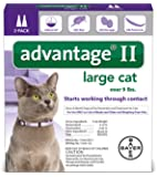 Advantage II Flea prevention Large Cats, over 9 lbs,  2 doses