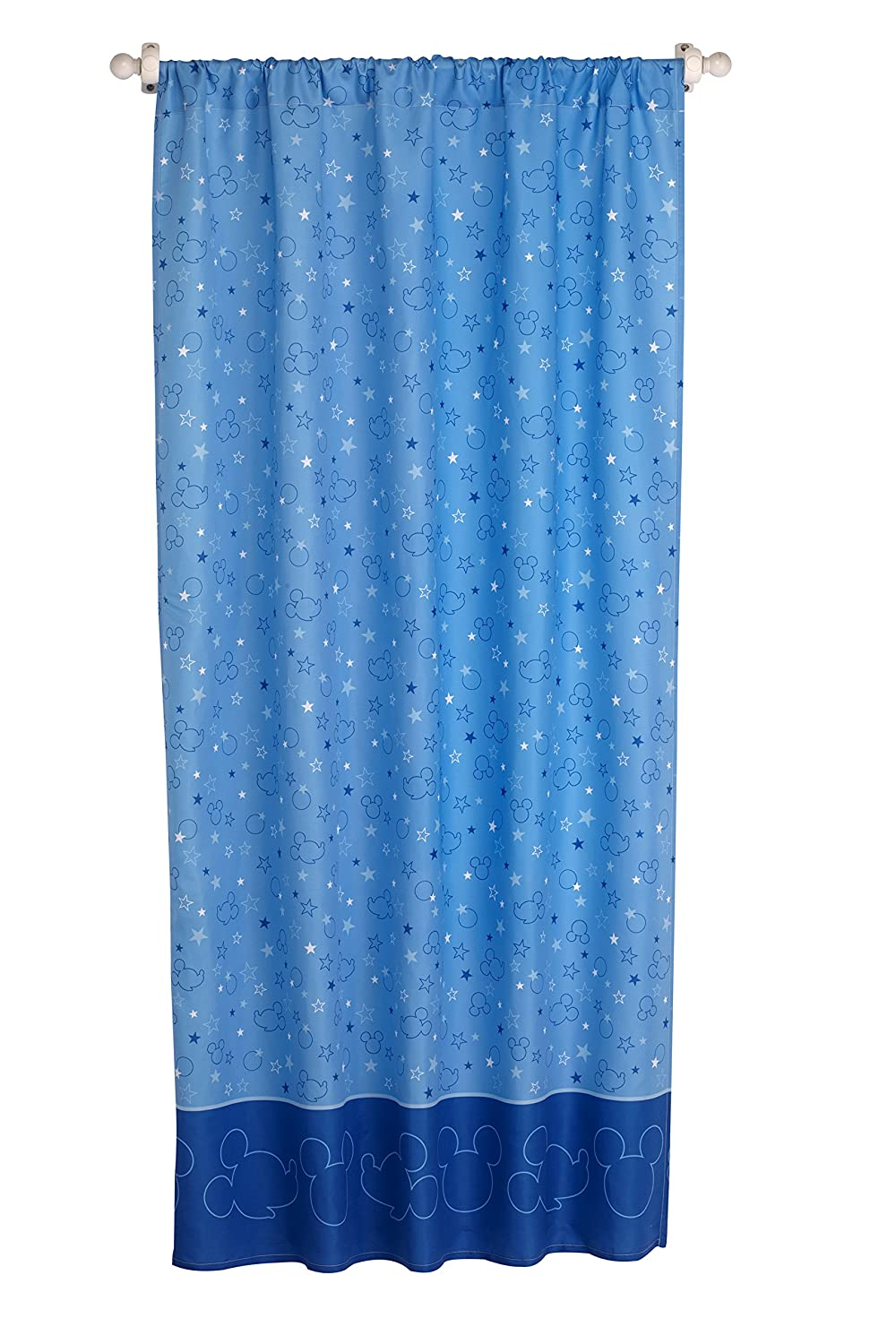 Disney Mickey Mouse Playground Pals Curtain Panel, Blue Crown Crafts Inc 4033175