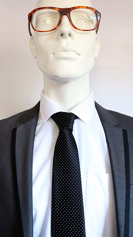 562bcdc3dcd9 Dr. Robert Ford (Westworld) Black Pin Dot Tie: Amazon.co.uk: Clothing