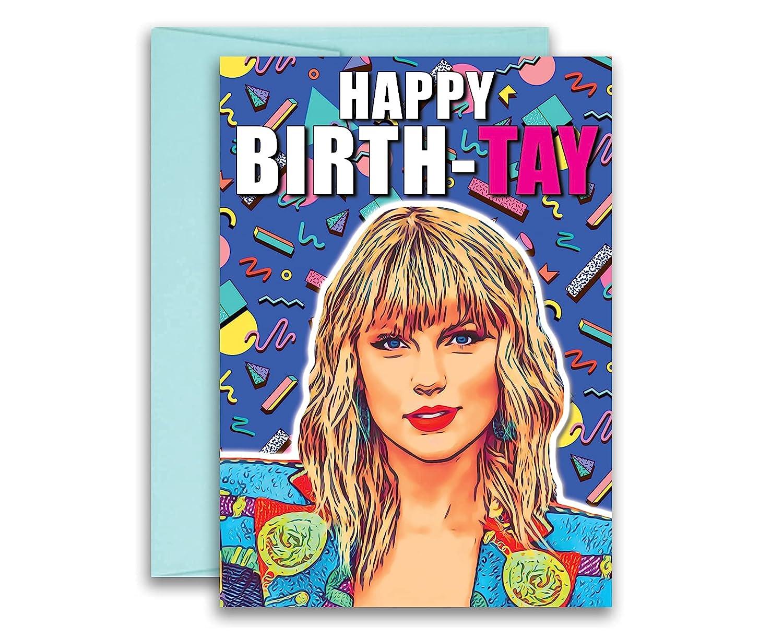 Taylor Swift Inspired Parody Birthday Card Birth-TAY 5x7 inches w/Envelope