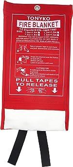 Tonyko Fiberglass Fire Blanket for Emergency Surival, Flame Retardant Protection and