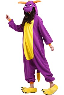 YUWELL Unisex Kigurumi Disfraz Animal Adulto Anime Cartoon Cosplay Onesie Pijamas Party Halloween Pijamas