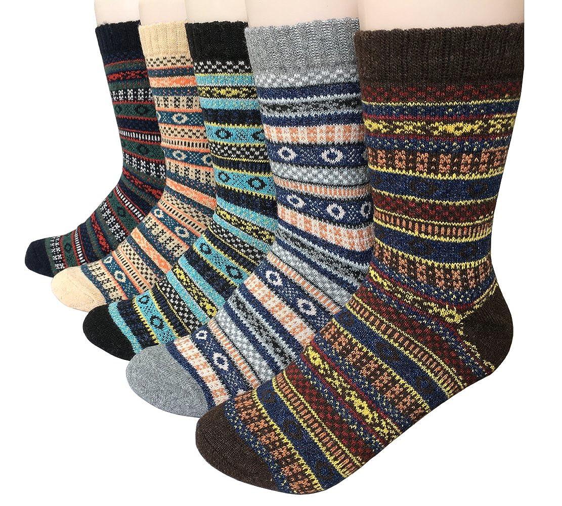 fe376ada Vellette Calcetines termicos ricos en algodon para Hombre-Muje-Ideales para  invierno EU 38