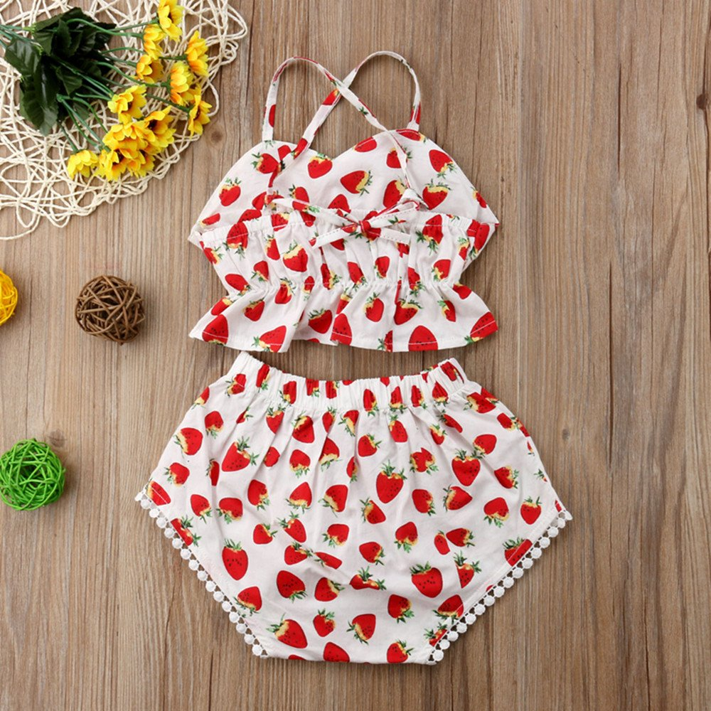 Rolayllove Toddler Baby Girl Kids Bowknot Floral Sleeveless Casual Princess Dresse Clothing