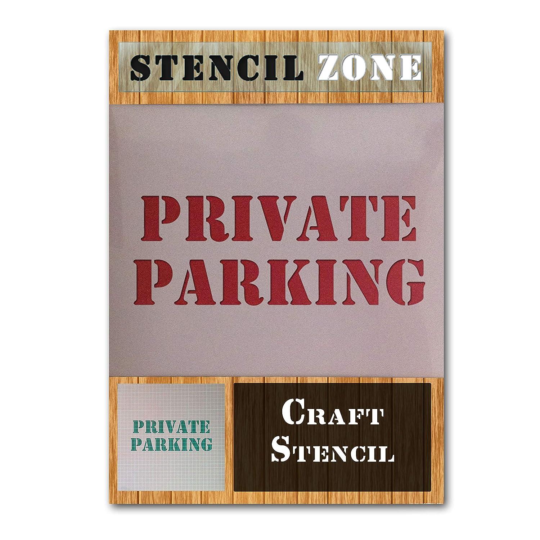 Aparcamiento privado de coches de carretera sesi/ón Mylar aer/ógrafo Pintura Mural Art Crafts plantilla-L
