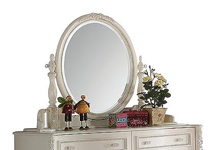 Acme Furniture Dorothy 30366 Mirror, Ivory