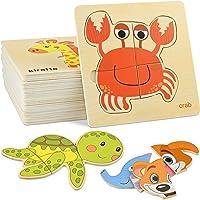 GOLDGE 16pcs Puzzles de Madera Juguetes Bebes, Juguetes Montessoris,Puzzles de Madera Educativos, Juego de Regalo…