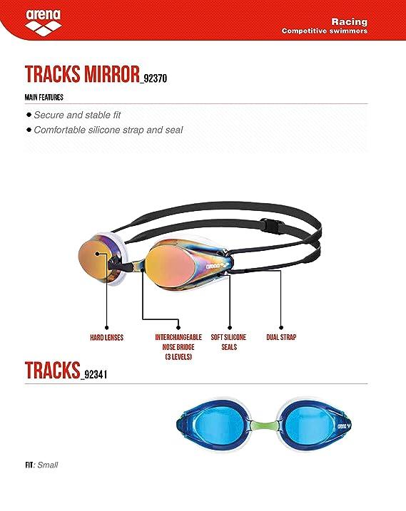 arena Tracks Mirror Gafas de Nataci/ón Unisex Adulto