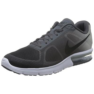 Nike Men's Air Max Sequent Running Shoe (10.5 D(M) US Men, Grey/Black/Platinum) | Road Running