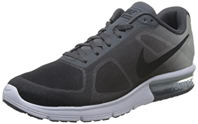 detailed look f9bdc cb40a Image Unavailable. Image not available for. Color  Nike Air Max Sequent  Dark Grey Pure Platinum Metallic Platinum Black Mens Running