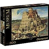 Clementoni - Puzzle de 1500 piezas, Great Museum, diseño Brueghel: La Torre de Babel (319855)