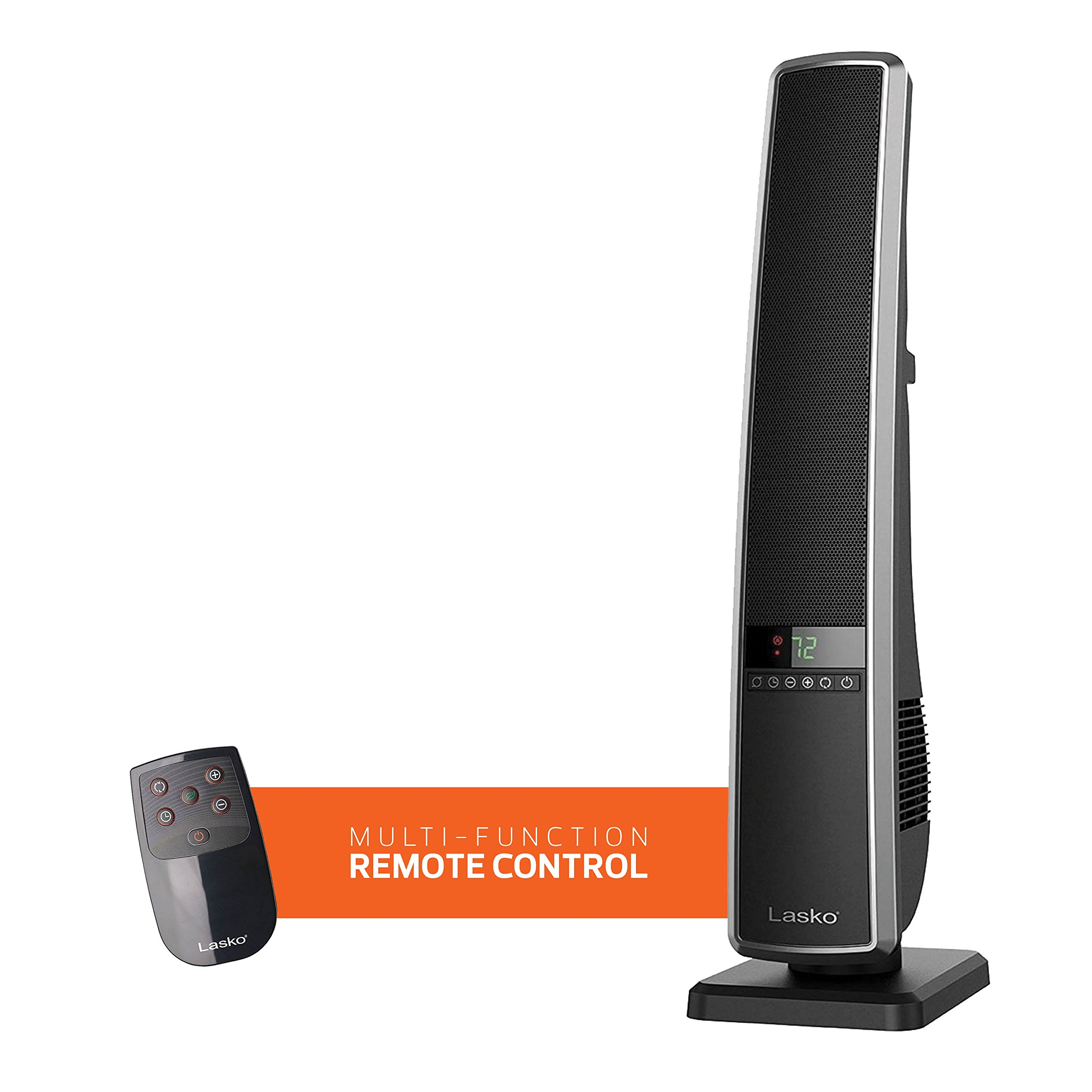 Lasko 32-Inch Digital Ceramic Tower Heater with Multi-Function Remote Control and Widespread Oscillation