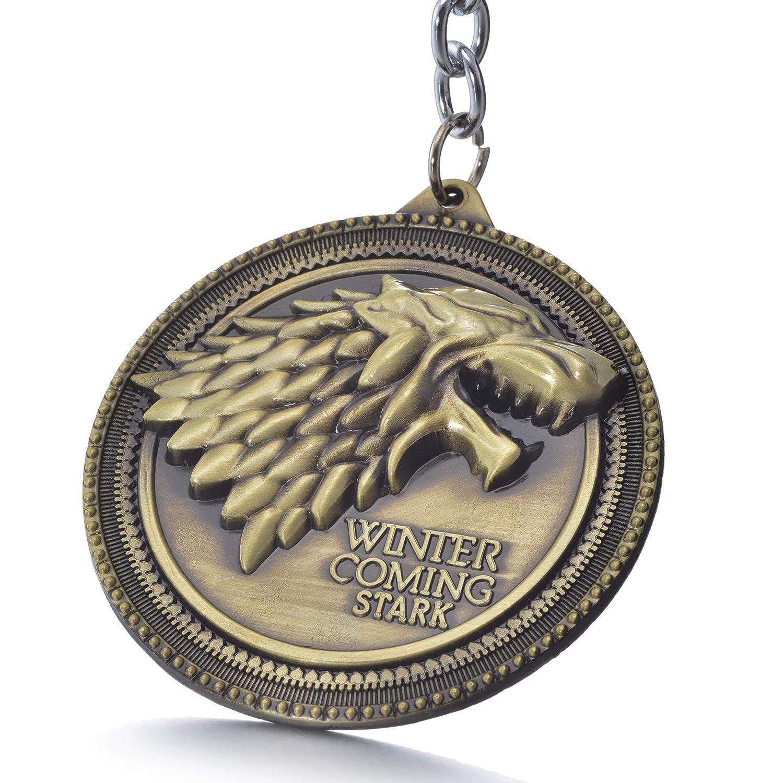 Amazon.com: Juego de Tronos Casa Stark Sigil Crest Metal ...