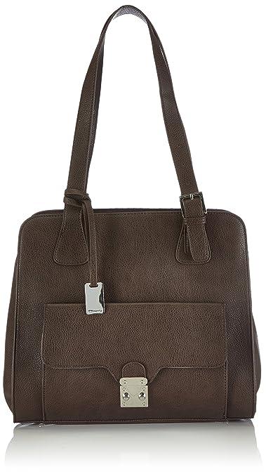 Tamaris Damen MICAELA Shopping Bag Shopper, Braun (tobacco
