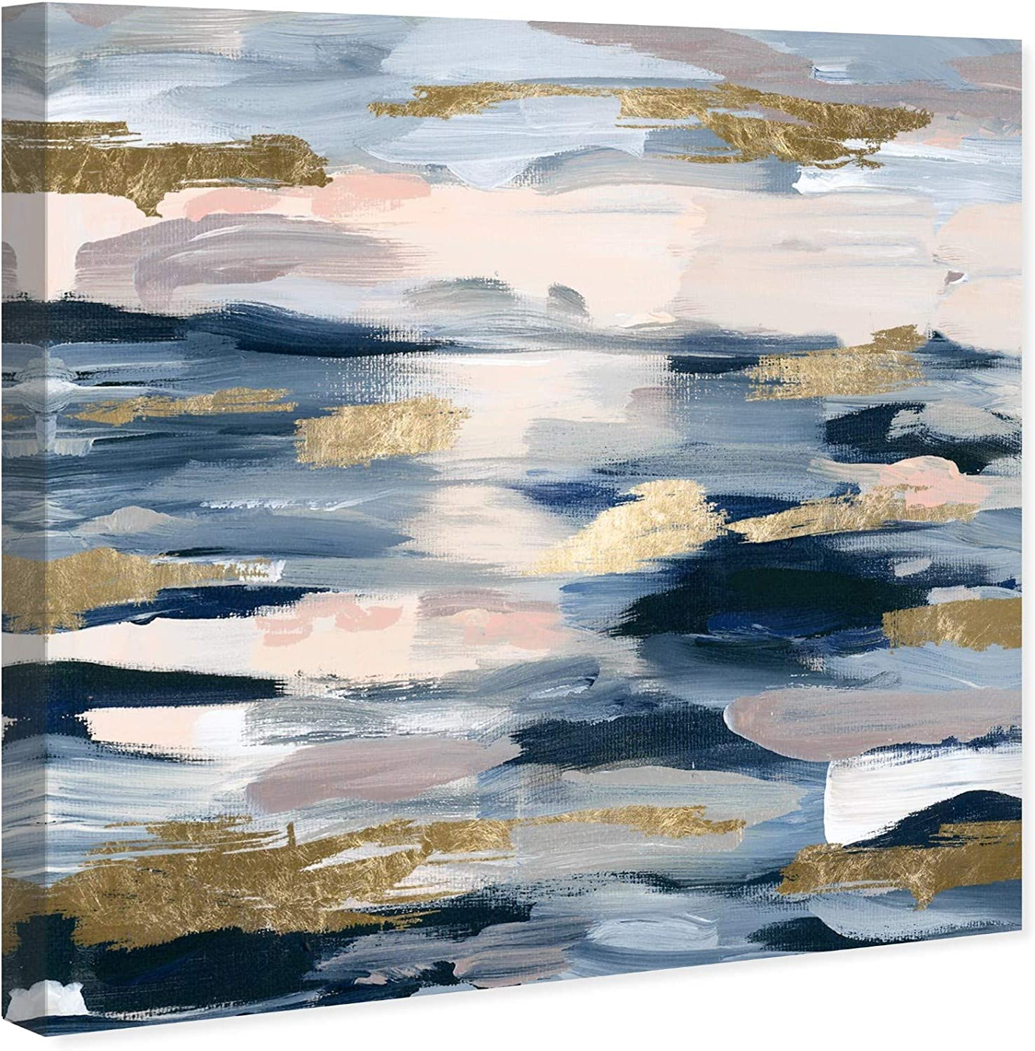 Amazon Com The Oliver Gal Artist Co Abstract Wall Art Canvas Prints Smoke On The Water Home Decor 24 X 24 Blue Pink Posters Prints