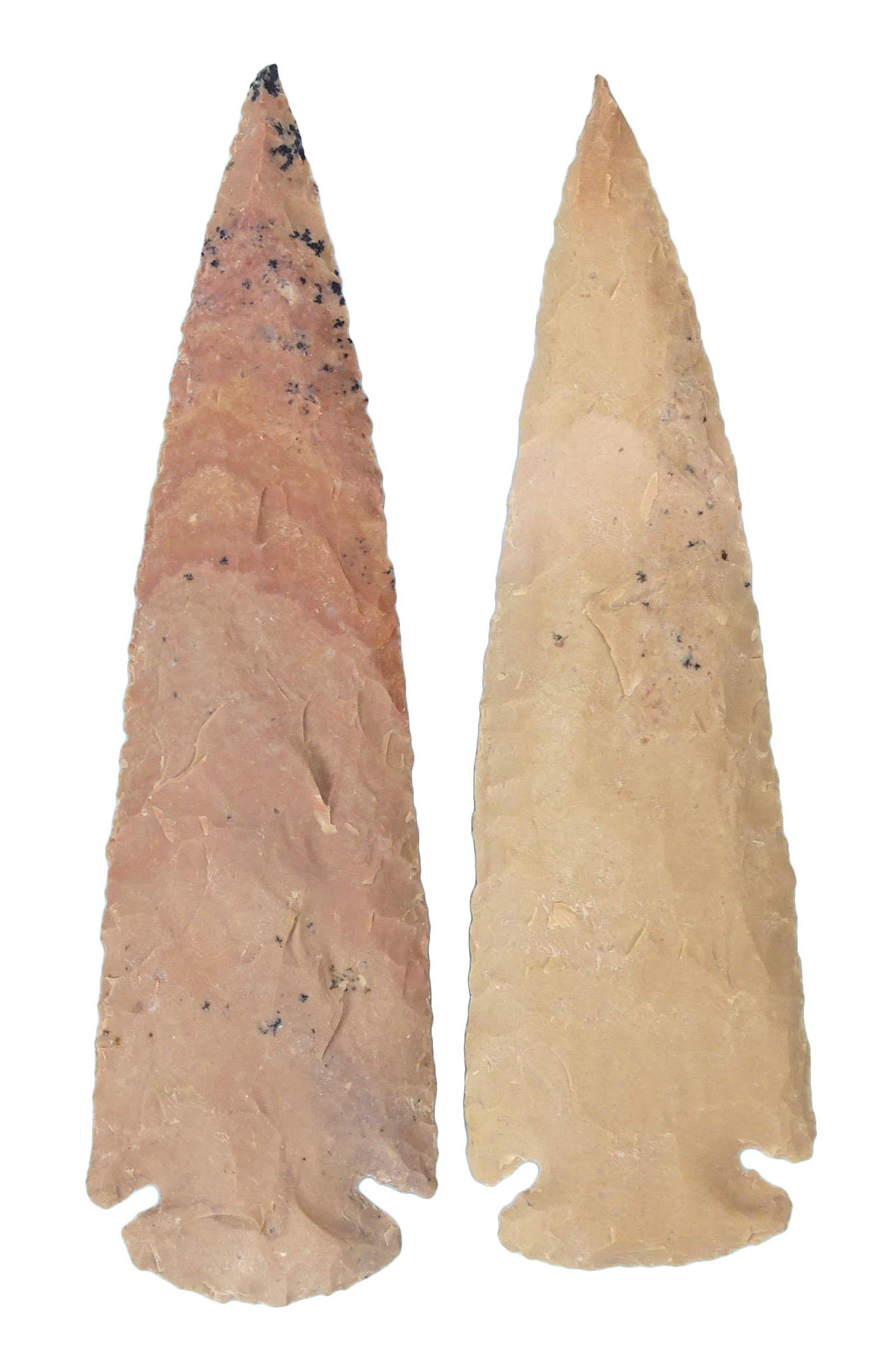 HARMONIZE Reiki Healing Crystal Agate Stone Natural Handmade Set of 2 Spearhead Arrowhead by HARMONIZE