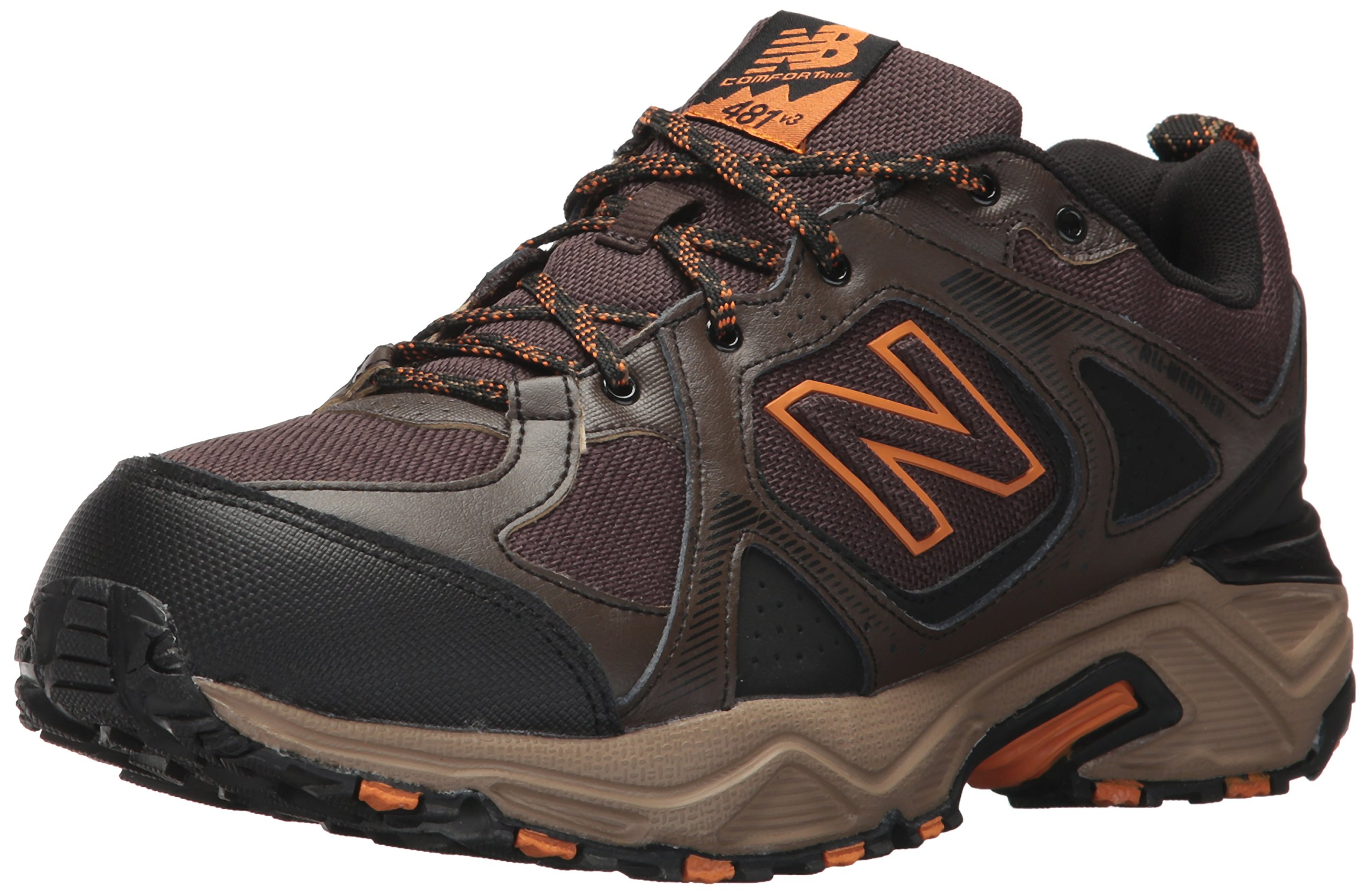 New Balance Men's 481V3 Water Resistant Cushioning Trail Running Shoe, Brown, 14 4E US by New Balance