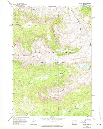 Crater Lake Topographic Map.Amazon Com Yellowmaps Crater Lake Wy Topo Map 1 24000 Scale 7 5
