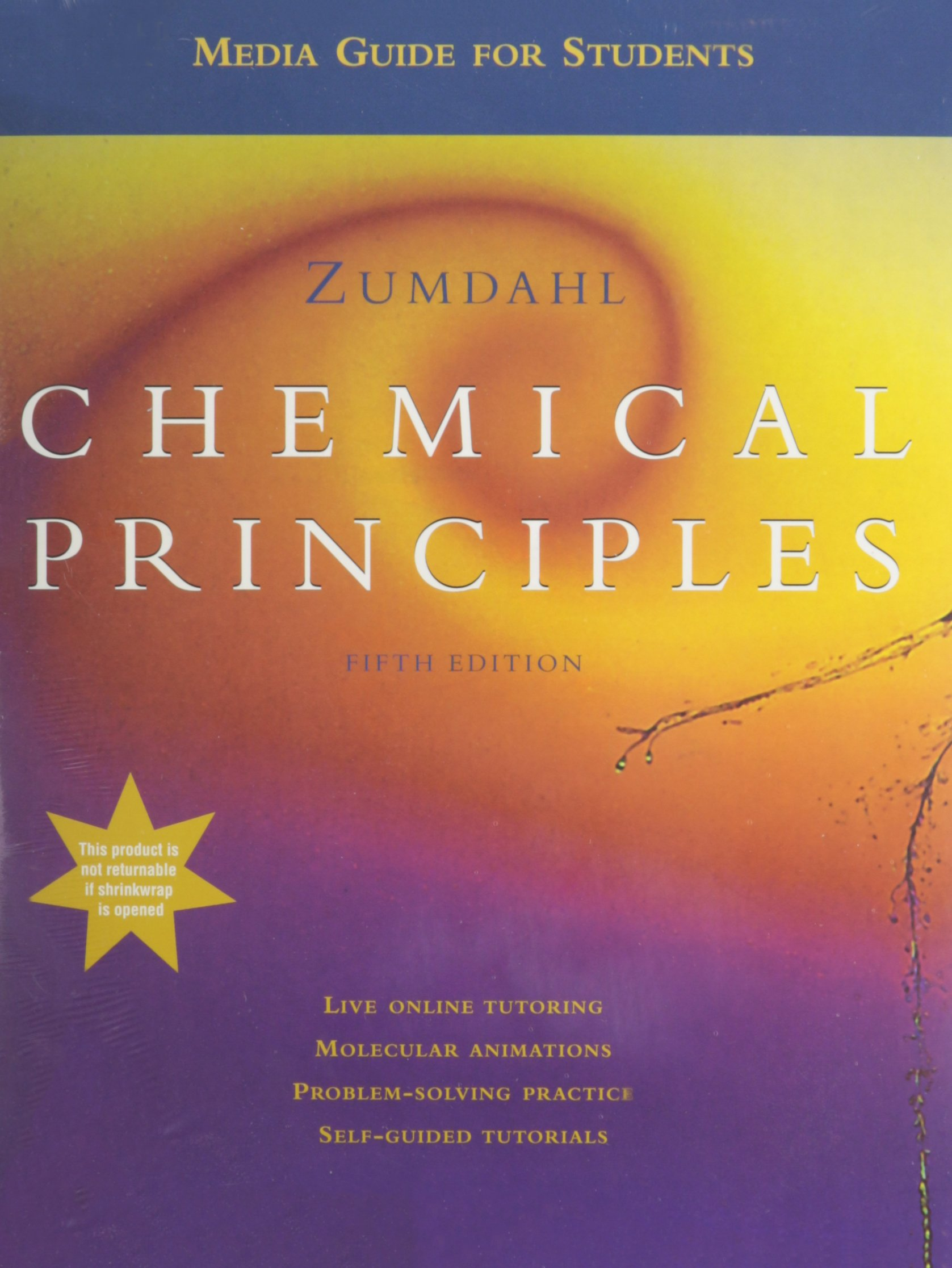 Chemical Principles With Media Guide + Cd-rom + Study Guide 5th Ed: Steven  S. Zumdahl: 9780618495337: Amazon.com: Books