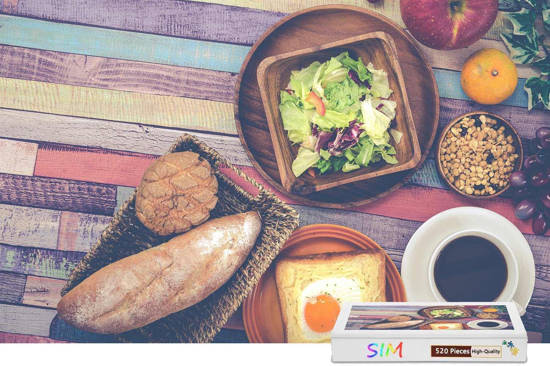 1着でも送料無料 Sim、プレミアム木製 - B07FMH5VMH 15.1インチ 朝食の野菜のパンのエッグコーヒー、20.6 - X 15.1インチ - 500ピースのジグソーパズル B07FMH5VMH, お米の通販 五十歩屋(いがほや):c1da3ba8 --- 4x4.lt