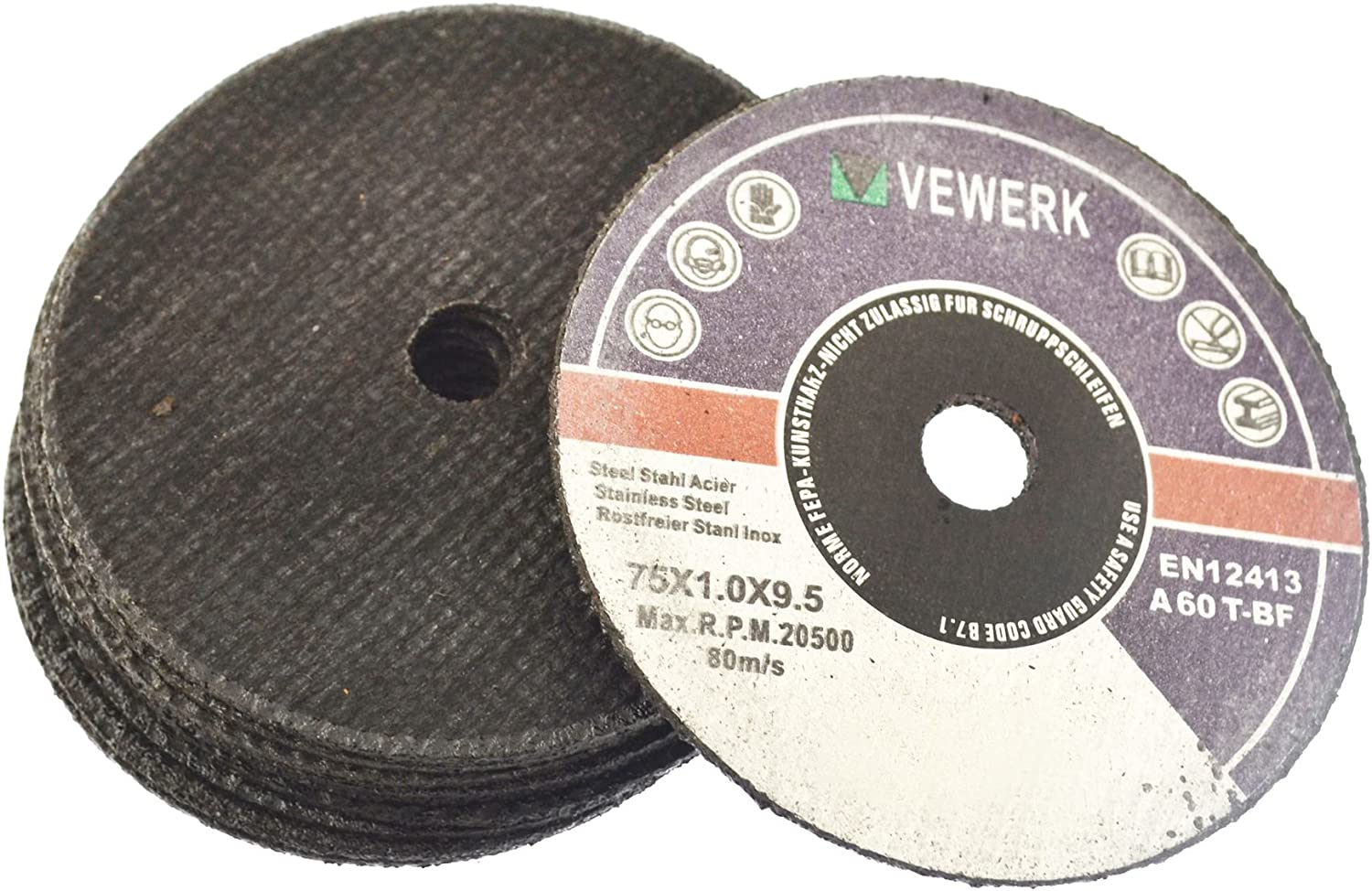3 Cutting Grinding Discs for Air Cut-off Tool Grinder Cutoff 25 PACK 75mm AT823