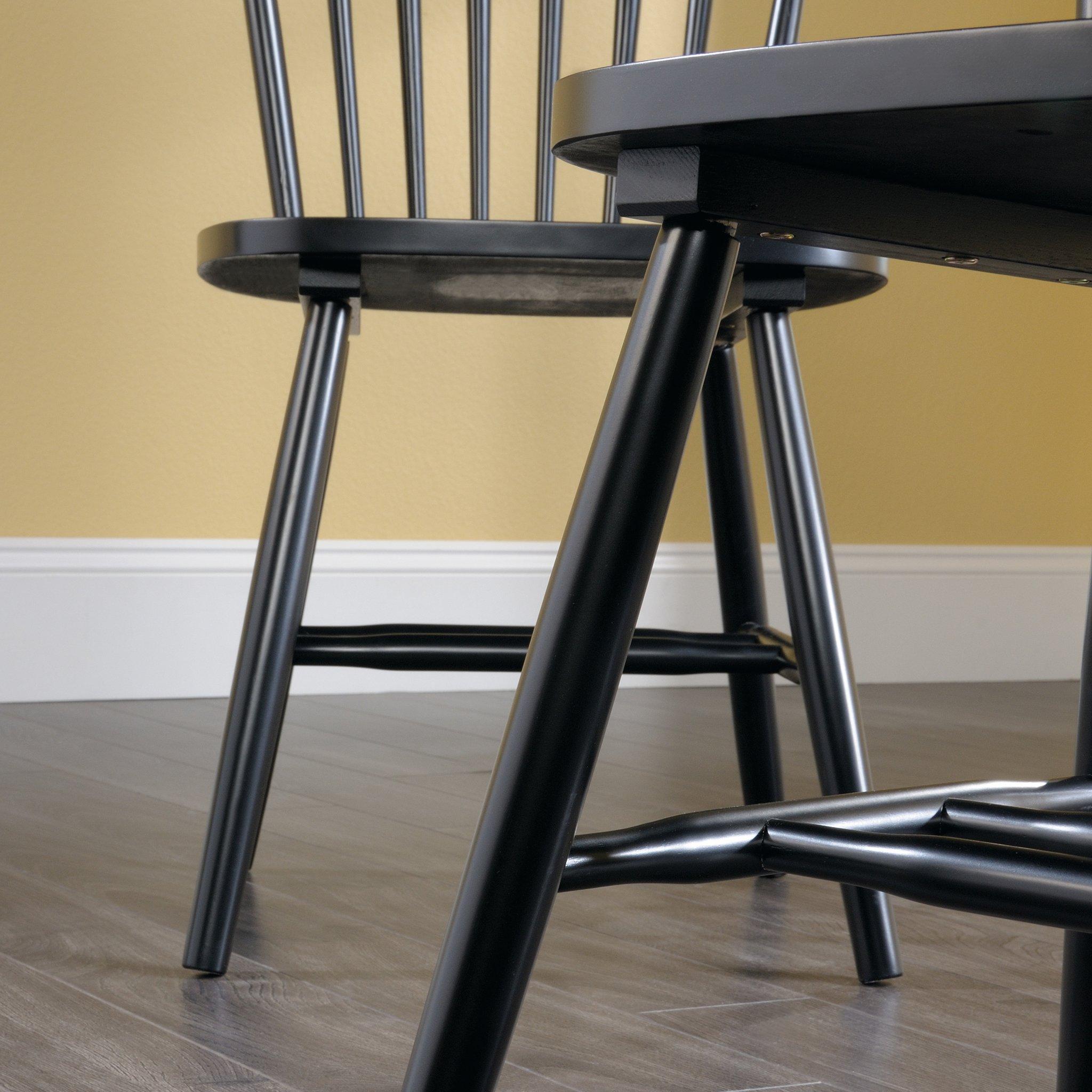 Sauder 418892 New Grange Spindle Back Chairs, L: 20.47'' x W: 21.26'' x H: 36.22'', Black finish by Sauder (Image #6)