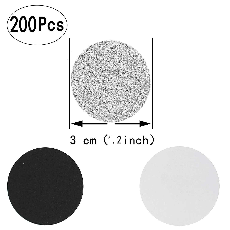 200pc AKIO CRAFT Party Supplies Black White Silver Bachelorette Table Confetti Engagement Wedding Bridal Shower