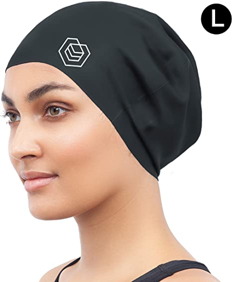 Designed for Long Hair SOUL CAP XL Extra Large Swimming Cap Black