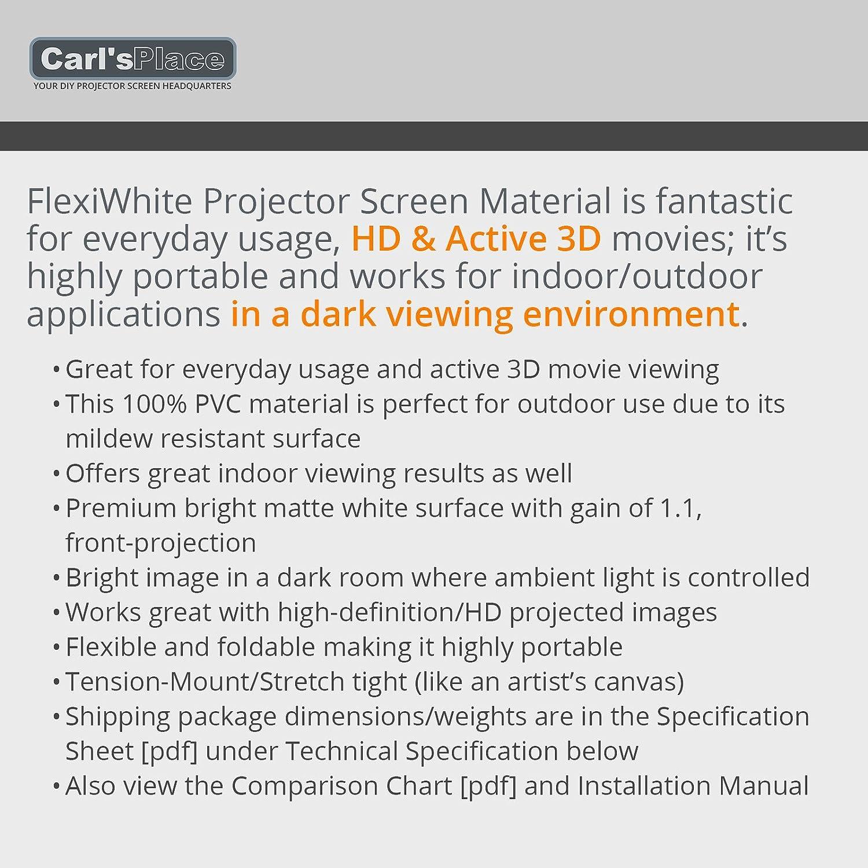 Amazon.com: Carl\'s FlexiWhite, Projector Screen Material, White ...
