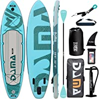 """DAMA 10'6""""x32""""x6"""" Premium Inflatable Stand Up Paddle Board (6 inches Thick) with Durable SUP Accessories, Wide Stance…"""