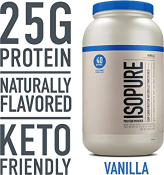 Isopure Keto Friendly Natural Vanilla Flavored Protein Powder 3 Pound