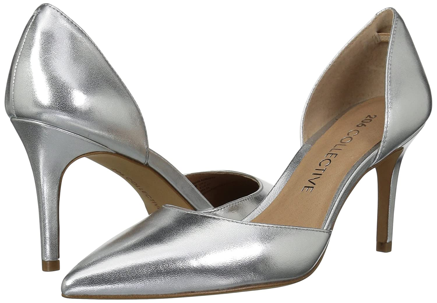 206 Collective Women's Adelaide D'Orsay Dress Pump B0789BZCGQ 11 B(M) US|Silver Leather