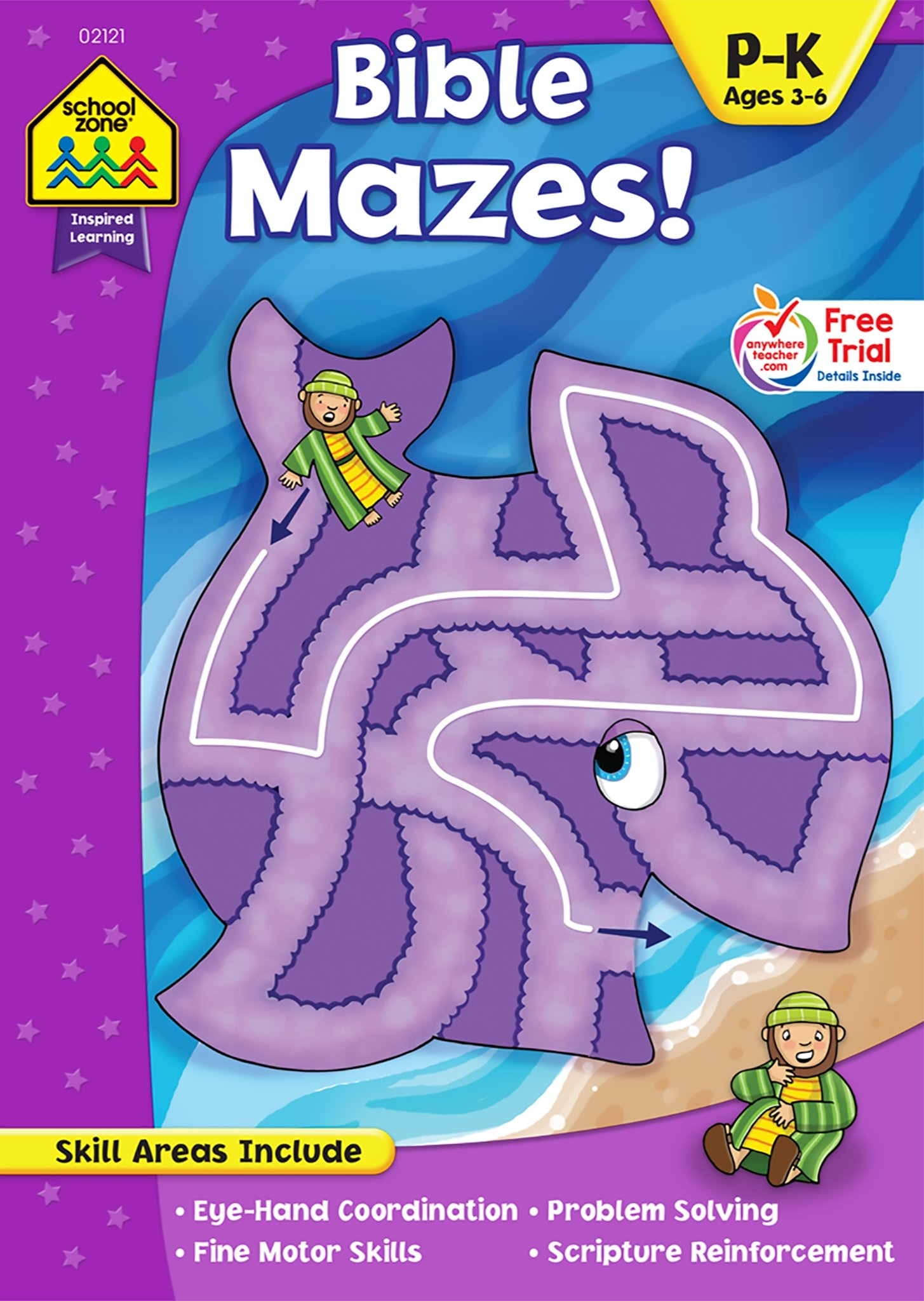 Bible Mazes Workbook Ages 4-6