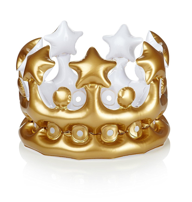 NPW- Gonfiabile Corona Foto Booth Selfie Prop/ /Queen per Il Giorno Taglia Unica W13641 Colore Gold Fancy Dress
