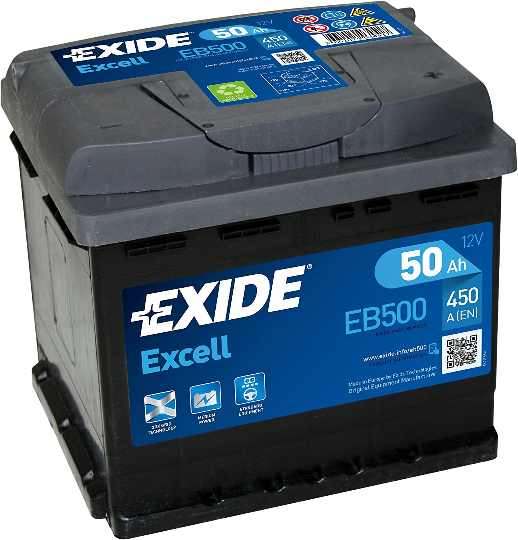 batteria per motorino di avviamento 50 Ah Exide EB500