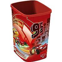 CURVER 217726 Décor Cars Corbeille à Papier Polypropylène Rouge 23 x 19 x 29 cm